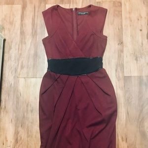 Maroon Sheath Dress
